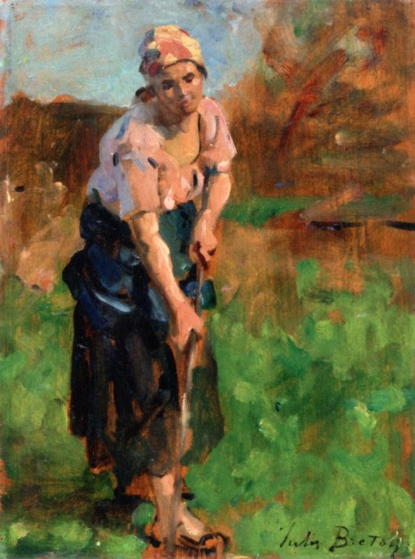 The Hoe (sketch for Springtime) Jules-Adolphe Breton - circa 1902