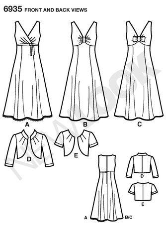NL6935 Misses Dress & Bolero