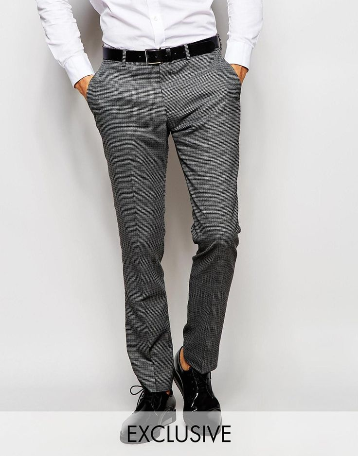 Selected+Homme+Exclusive+Dogtooth+Trousers+in+Skinny+Fit