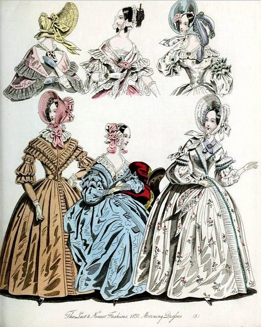 The World of Fashion and Continental Feuilletons 1838 Plate 25