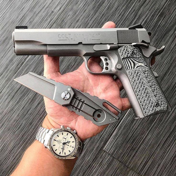 ▪️ Tag #DailyGunDose for a feature! ▂▂▂▂▂▂▂▂▂▂▂▂▂▂▂▂▂▂▂▂▂▂ #Repost 📸 @pete.556 ・・・ Colt 1911A - Yoda - OMEGA Speedmaster Broad Arrow 🔫🔪⌚️ . . . . #colt #colt1911 #45acp #gun #guns #gunsdaily...