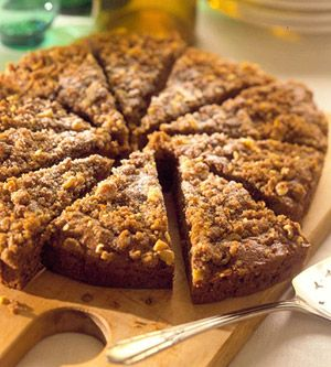 Heart-healthy apple coffee cake...With only 5 grams of fat, this coffee cake can be served with no regrets.