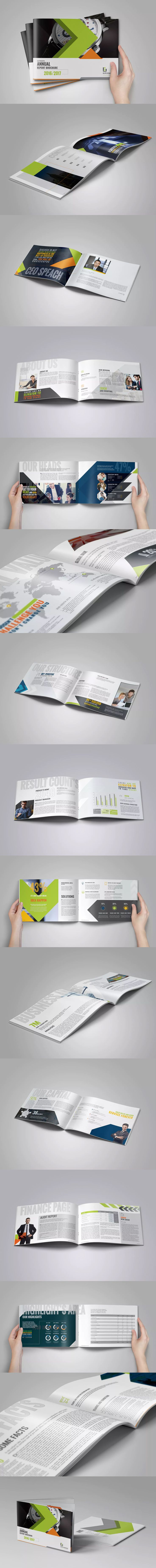 Landscape Annual Report Template InDesign INDD