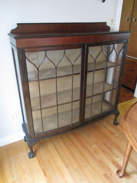 ANTIQUE TEMPERED GLASS 2-DOOR CLAW FOOT MAHOGANY DISPLAY CABINET Estate sale from graceful Bell's Corners home – 70 Ridgefield Crescent, Ottawa ON. Sale will take place SUNDAY, May 24th 2015, from 9am to 2pm. Visit www.sellmystuffcanada.com for full sale description and photos of all available items! #70Ridgefield #SMSO