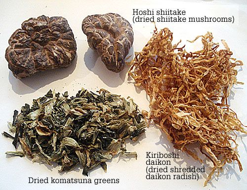 Dried asian vegetables