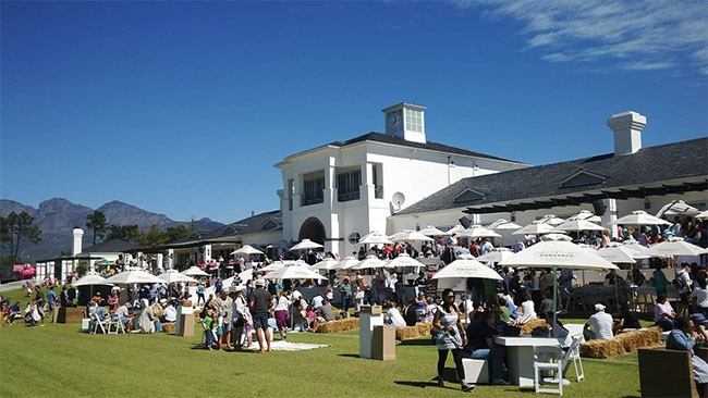 The Val de Vie Estate Market. Where else will you see a live polo game while shopping for decor and hand made items?