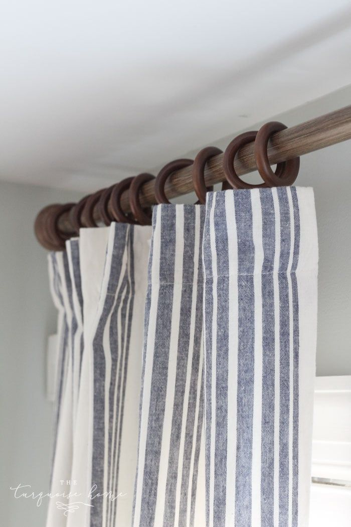 new curtains and a budget friendly curtain ring hack curtains rh pinterest com