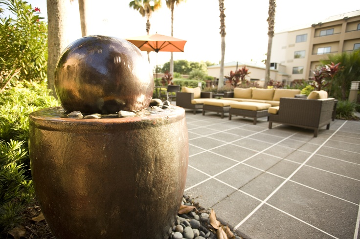 Outdoor living at Courtyard by Marriott Orlando International Drive~ (faux grout tile lines on cement)