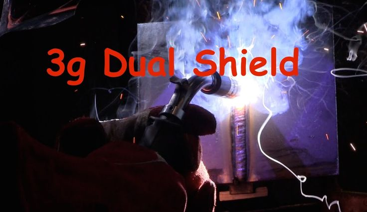 Flux Core Welding Certification Test - 3g Dual Shield Structural Plate test