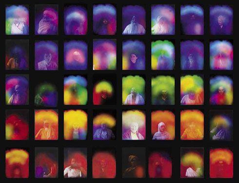 цвета ауры. центральный, основной цвет (цветотип) несёт информацию о личности человека, о мировоззрении, о более постоянных характеристиках. Также важны цвета по сторонам ауры (справа, слева, сверху), уровень энергии по чакрам, размер ауры, графики по биоданным.