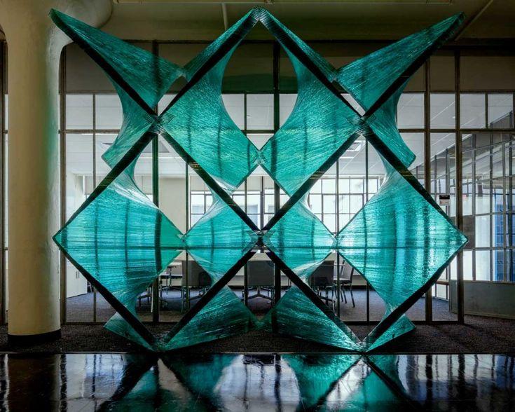 Cristina Parreño Architecture has designed a glass architectural installation at the International Design Center at MIT in Boston, Massachusetts.