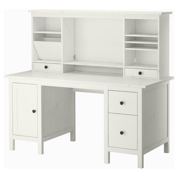 hemnes desk with add on unit white stain ikea - Idea Desks