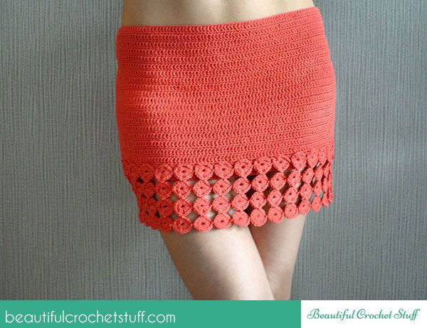 Crochet Skirt By Jane - Free Crochet Pattern - (beautifulcrochetstuff):  except make it longer!