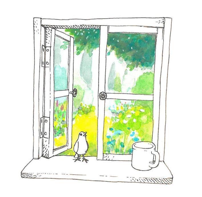 イラスト 緑 窓 の画像検索結果 イラスト 幻想的なイラスト 7周年
