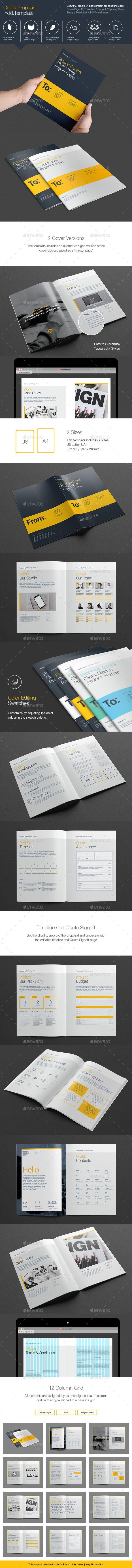 Grafik Proposal Template #design #print Download: http://graphicriver.net/item/grafik-proposal/11959028?ref=ksioks