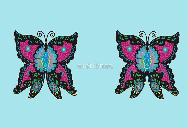 Psychedelic Butterfly #elenimacsynodinos