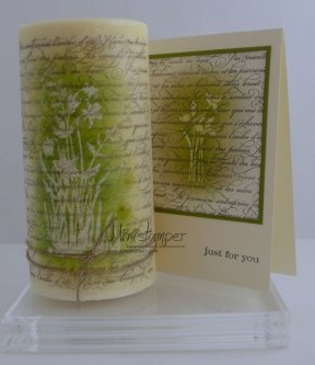 Candle and Matching Card made with Stampin' Up! products by www.ministamper.com