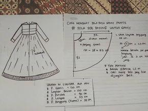 pola dasar gamis