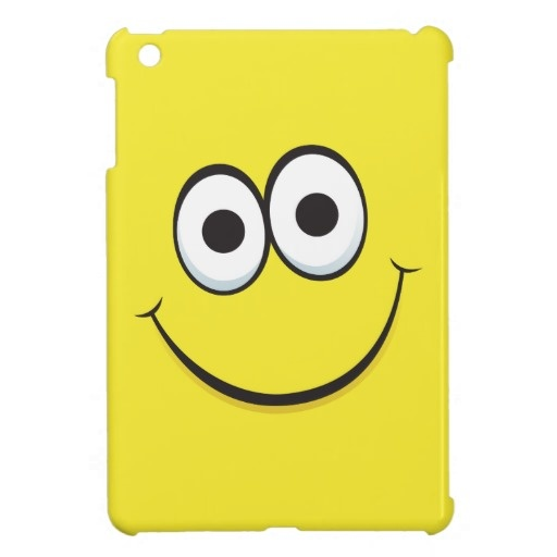Happy smiling yellow cartoon smiley face funny cover for the iPad mini.  $39.95
