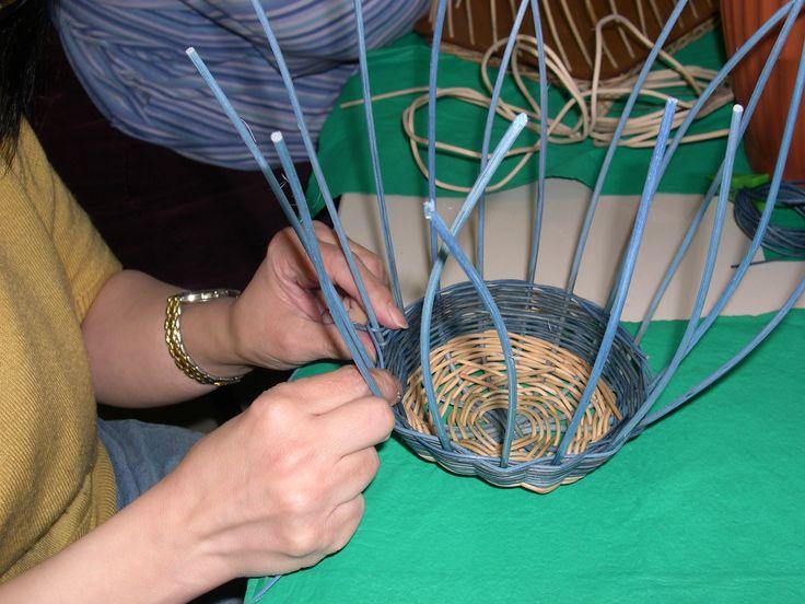 Enseñando cestería