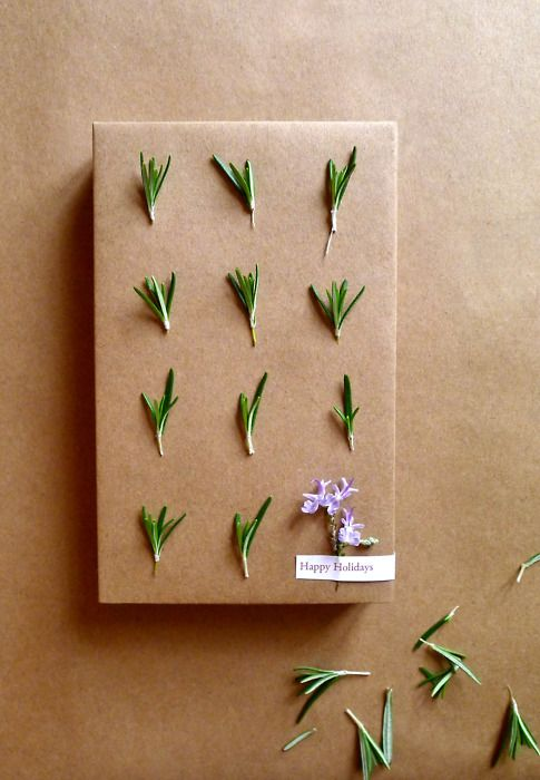 Rosemary gift wrap. #christmas