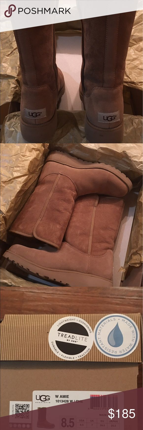 Authentic UGG boots size 8.5 brand new with box! These boots are brand new only worn ones! They come with the original bag & box from the UGG store where I originally bought them and they are waterproof! UGG Shoes Ankle Boots & Booties