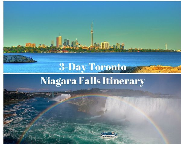 How to spend three days visiting Niagara Falls and Toronto in Ontario, Canada.