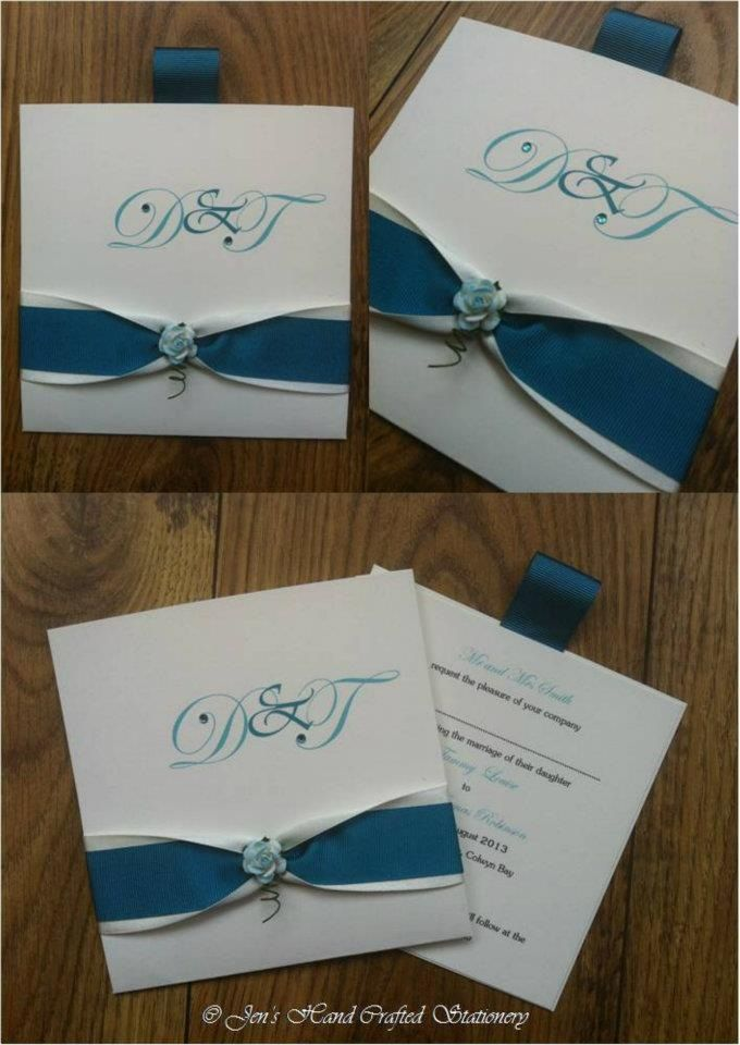 african wedding invitations uk%0A Teal rose wallet Wedding invitation www jenshandcraftedstationery co uk  www facebook