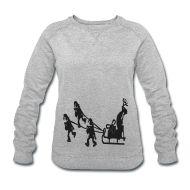 Pullover & Hoodies ~ Frauen Sweatshirt von Stanley & Stella ~ Frauen Sweatshirt Weihnachtspullover Glitter