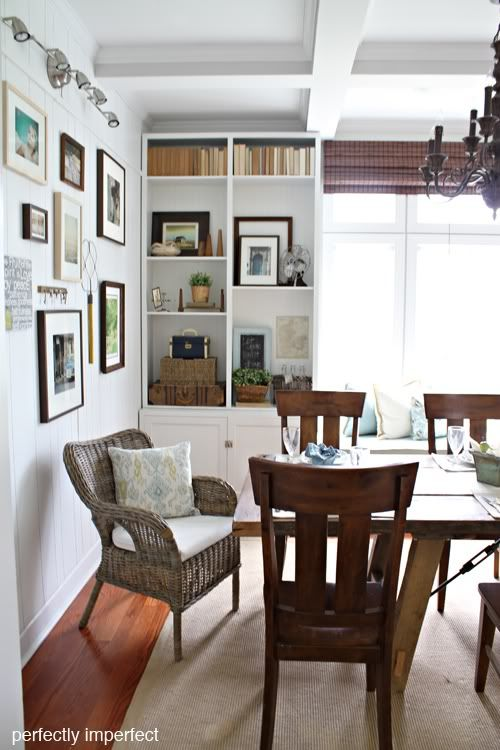 up close of dining room idea.  Perfectly Imperfect blog.  Has a complete how-to on the whole project.