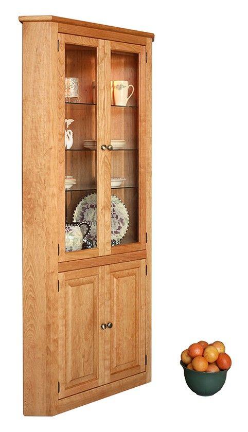 shaker 5 sided cabinet in natural cherry kitchen remodel corner rh pinterest com
