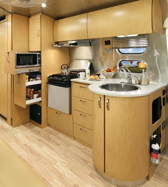 The Flying Cloud travel trailer from Airstream combines comfort and luxury, and includes several interior decor options to find the look that's right you.