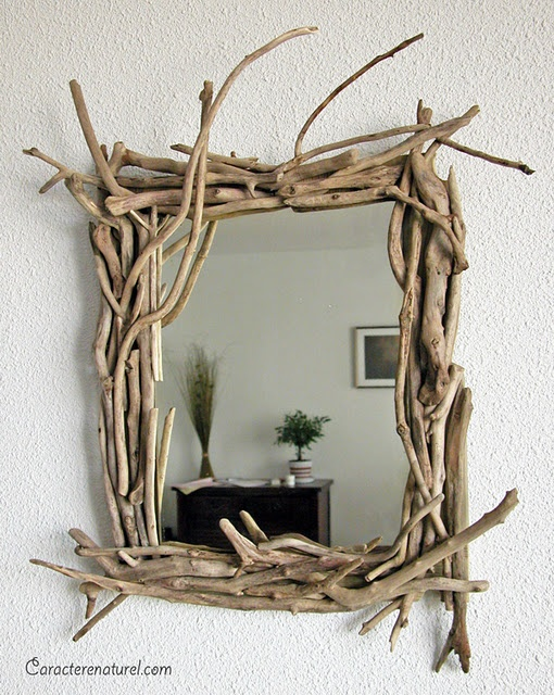 driftwood mirror - This would be perfect for my boys bathroom.