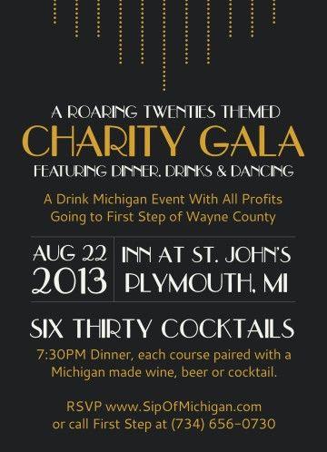 Charity Dinner Invitation Google Search Art Deco Style
