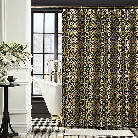 BombayR Sarto 72 Inch X Shower Curtain