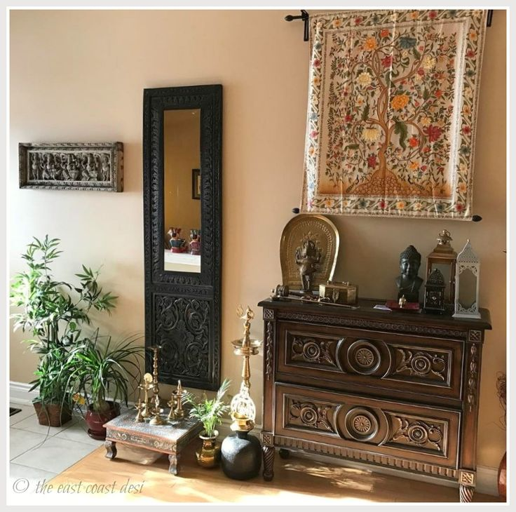 Indian Inspired Decor From The Home Of Sanjhukta Das. (Image Credit:  Samjhukta Das