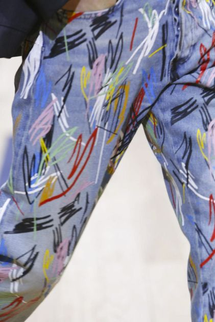print on denim DIOR HOMME SS15