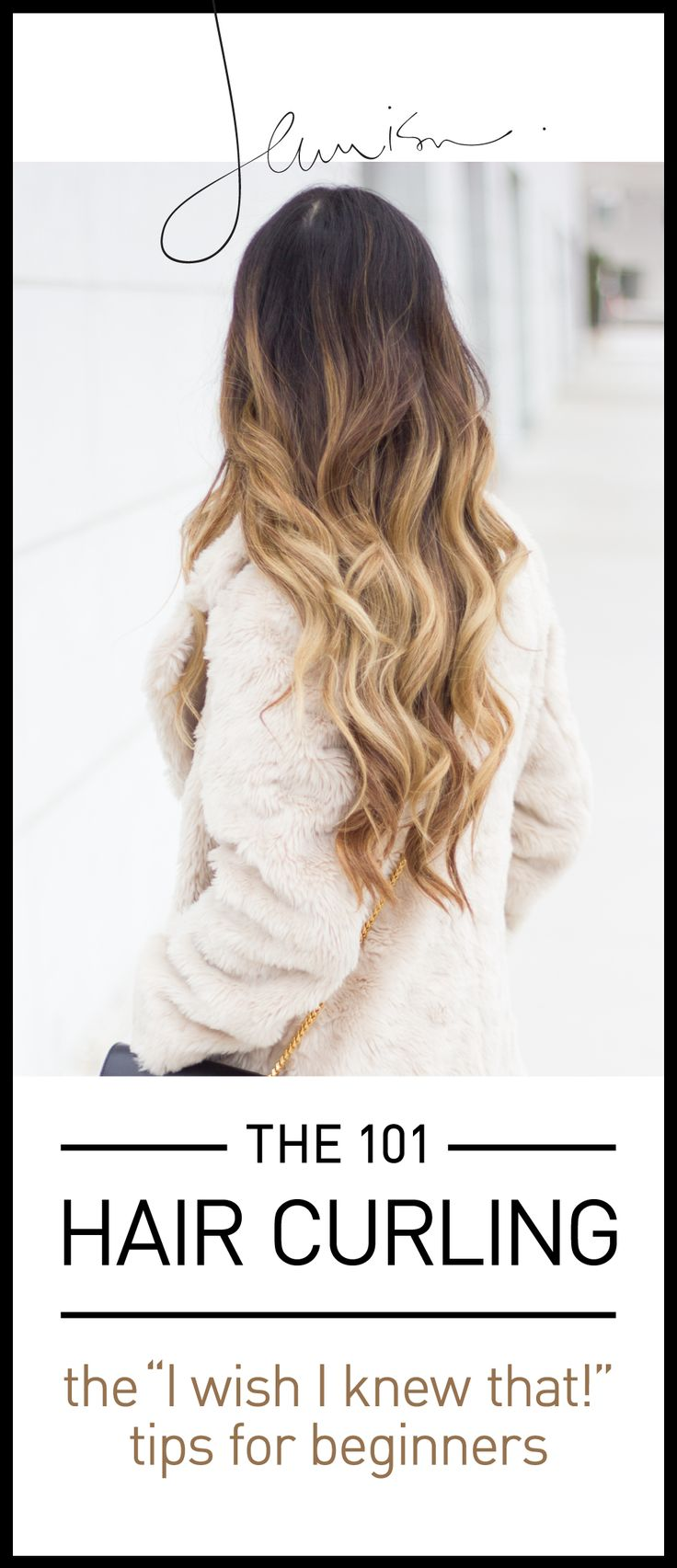 "The 101 on How to Curl your Hair. Get the tips and tricks that make you go ""I wish I knew that!"" from this quick and easy tutorial! http://www.jeannieism.com/the-101-how-to-curl-your-hair/"