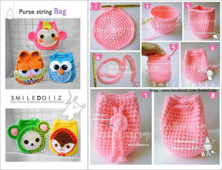 Carteras para nenas   Tejido y crochet   Pinterest   Facebook and Html