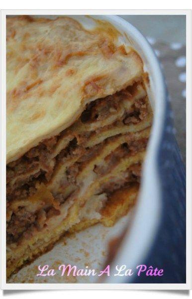 Lasagnes de crêpes à la polenta et bolognaise -