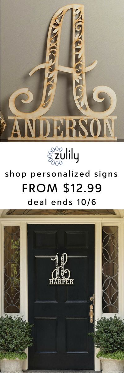"Sign up to shop personalized family name signs from $12.99. Deal ends 10/6. Nothing says ""thoughtful"" like a gift that's made just for you. Discover the power of personalization with wood name signs, burlap garden signs, kids' night-lights, outdoor décor and everything in between."