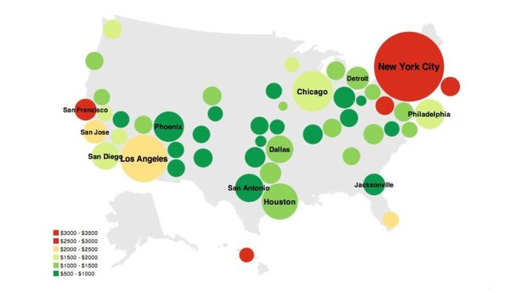This Rent vs. Buy Map Explains Which Makes More Financial Sense in Pretty Colors