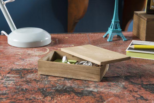 Boîte à couvercle en bois « Vintage »