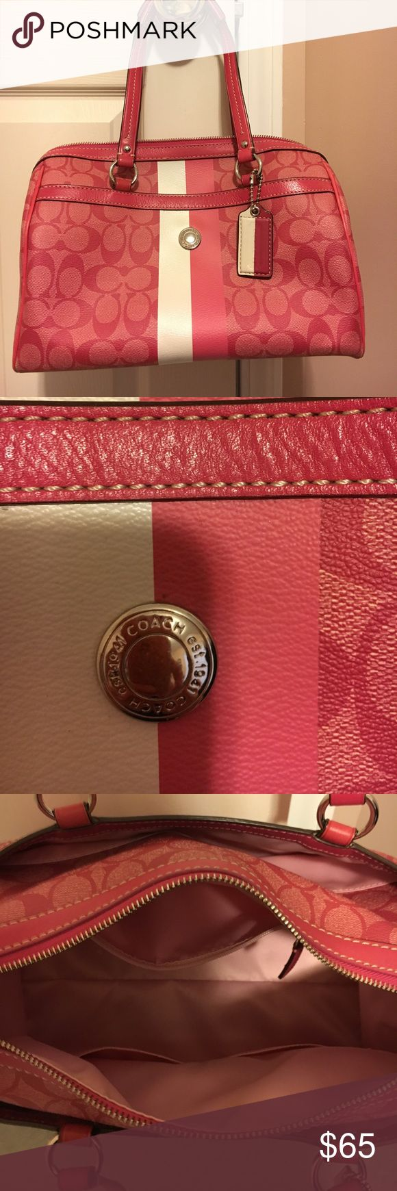 Coach Satchel Purse Beautiful pink Coach satchel.  In great condition!  Smoke free home. Coach Bags Satchels