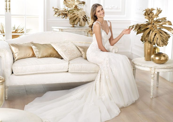 Pronovias presents the Land wedding dress. Fashion 2014.   Pronovias