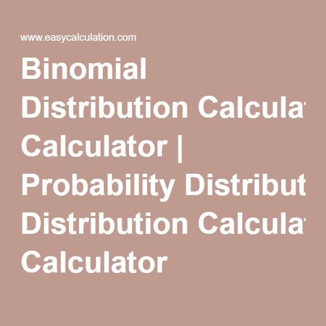 Más de 25 ideas fantásticas sobre Binomial Distribution en Pinterest - statistics worksheet