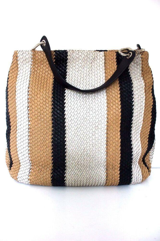 801797a6ba2 Karen Millen Multi Woven Leather Tote Shoulder Sling Shopper Bucket Hand Bag  New #KarenMillen #ShoulderBags