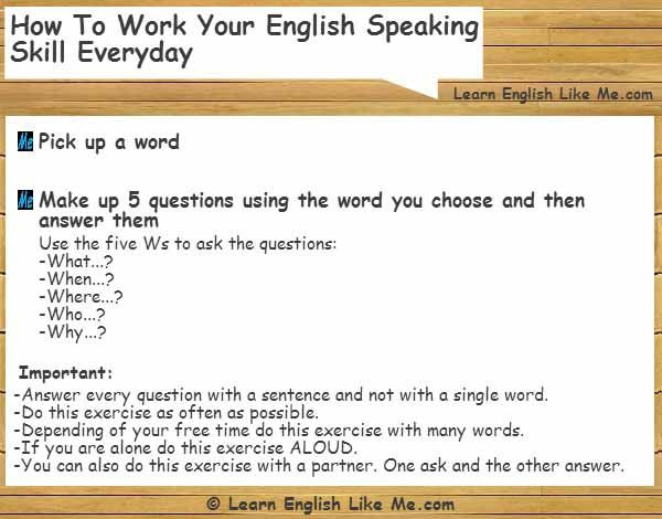 essay ways to improve your english speaking skills Writing skills practice book for efl  the english language programs division united states information agency washington, dc second printing published in 1995.