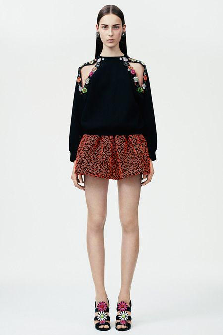 Christopher Kane, styling, inspiration, neon, floral