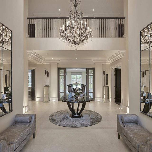 Nothing Quite Like A Double Height Entrance Hall With Statement Chandelier To Welcome You Home